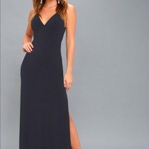 NEW! Navy Blue Maxi Dress